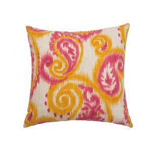 AICO by Michael Amini - 085 Bangali Tangerine 22in Square Pillow - BCS-DP22-BNGLI-TNG