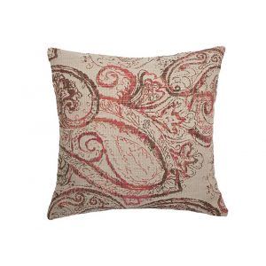 AICO by Michael Amini - 186 Dynasty Rosewood 22in Square Pillow - BCS-DP22-DNASTY-RWD