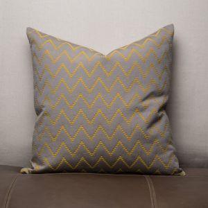 AICO by Michael Amini - 393 Blaze Sterling 22in Square Pillow - BCS-DP22-BLAZE-STR
