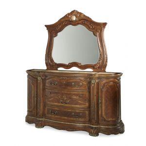AICO by Michael Amini - Cortina Dresser and Mirror in Honey Walnut