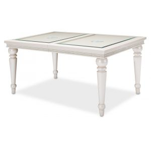 AICO by Michael Amini - Glimmering Heights 4 Leg Dining Table Complete in Ivory