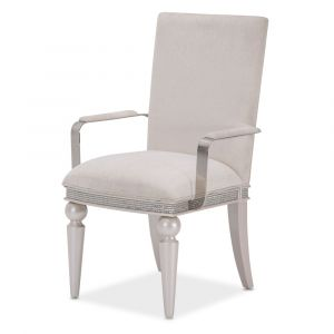 AICO by Michael Amini - Glimmering Heights Arm Chair in Ivory (Set of 2) - 9011004R-111