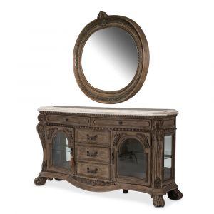 AICO by Michael Amini - Villa di Como Sideboard and Mirror in Heritage