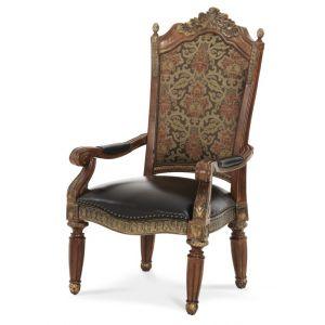 AICO by Michael Amini - Villa Valencia Arm Chair in Classic Chestnut (Set of 2) - 72004-55