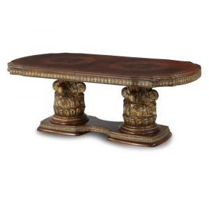 AICO by Michael Amini - Villa Valencia Rect. Dining Table in Classic Chestnut