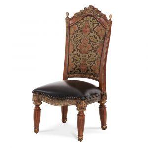 AICO by Michael Amini - Villa Valencia Side Chair in Classic Chestnut (Set of 2) - 72003-55