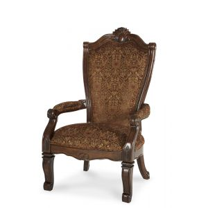 AICO by Michael Amini - Windsor Court Arm Chair Fabric Back in Vintage Fruitwood (Set of 2) - 70004-54