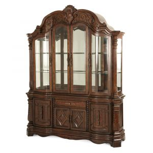 AICO by Michael Amini - Windsor Court China and Buffet in Vintage Fruitwood