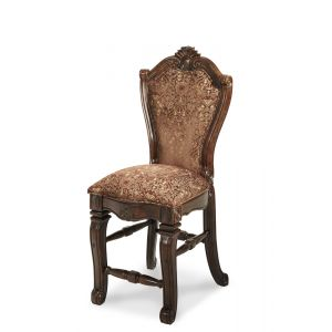 AICO by Michael Amini - Windsor Court Counter Height Chair in Vintage Fruitwood (Set of 2) - 70033N-54