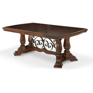 AICO by Michael Amini - Windsor Court Rect. Dining Table in Vintage Fruitwood