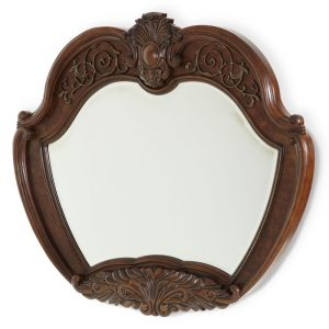 AICO by Michael Amini - Windsor Court Sideboard Mirror in Vintage Fruitwood - 70067-54