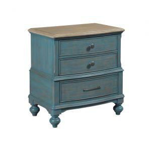 American Drew - Litchfield Moray Nightstand - Blue - 750-420B