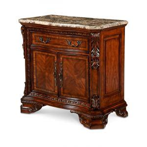 A.R.T. Furniture - Old World - Stone Top Door Nightstand In Pine Medium Cherry Finish - 143142-2606