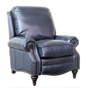BarcaLounger - Avery Recliner Shoreham Blue Leather - 72160570047