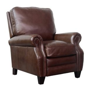 BarcaLounger - Briarwood Recliner Shoreham Chocolate Leather - 74490570085