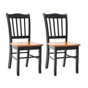 Boraam - Shaker Chair in Black and Oak (Set of 2) - 30536