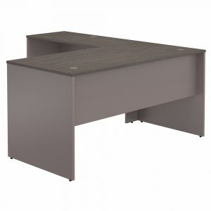 Bush Furniture - Commerce 60W L Shaped Desk in Cocoa and Pewter - CMD360COPK