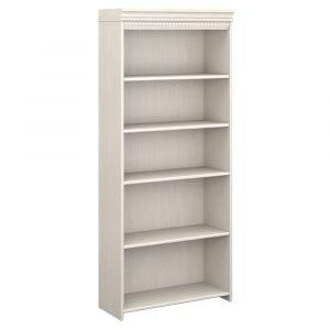 Bush Furniture - Fairview 5 Shelf Bookcase in Antique White - WC53265-03