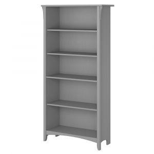 Bush Furniture - Salinas 5 Shelf Bookcase in Cape Cod Gray - SAB132CG-03