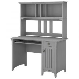 Bush Furniture - Salinas Computer Desk with Hutch in Cape Cod Gray - MY72308-03