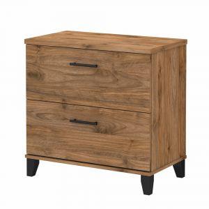 Bush Furniture - Somerset 2 Drawer Lateral File Cabinet in Fresh Walnut - WC81380