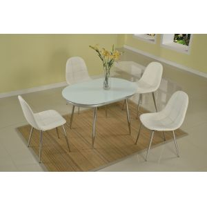 Chintaly - Donna 5 Piece Dining Set - DONNA-DT_SC-WHT