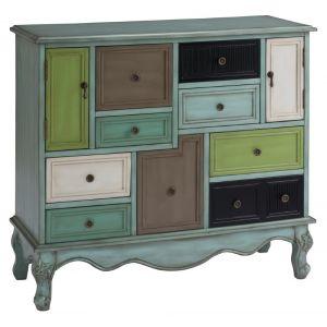 Coast To Coast - Nine Drawer Two Door Cabinet in Leslie Multicolor - 67489