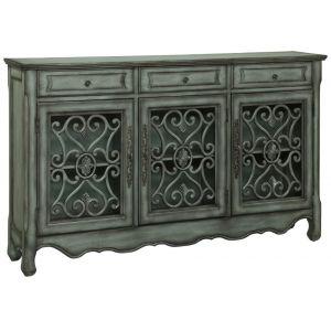 Coast To Coast - Three Drawer Three Door Credenza in Hood Green Grey - 56417