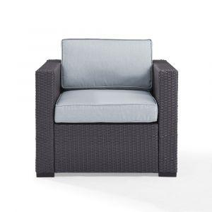 Crosley Furniture - Biscayne Armchair With Mist Cushions - KO70130BR-MI