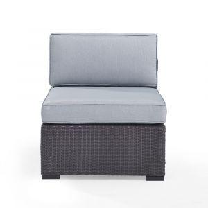 Crosley Furniture - Biscayne Armless Chair With Mist Cushions - KO70125BR-MI