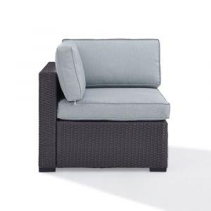 Crosley Furniture - Biscayne Corner Chair With Mist Cushions - KO70126BR-MI