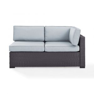 Crosley Furniture - Biscayne Loveseat With Int Arm With Mist Cushions - KO70129BR-MI