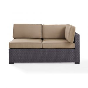 Crosley Furniture - Biscayne Loveseat With Int Arm With Mocha Cushions - KO70129BR-MO