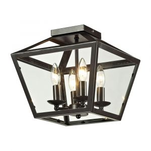ELK Lighting - Alanna 2 Light Flush Mount In Oil Rubbed Bronze And Clear Glass - 31506/4