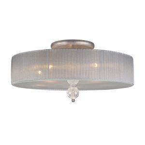 ELK Lighting - Alexis 5 Light Semi Flush  In Antique Silver - 20006/5