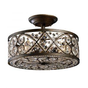 ELK Lighting - Amherst 4 Light Semi Flush In Antique Bronze - 11286/4