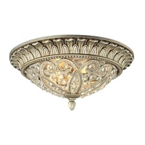 ELK Lighting - Andalusia 2 Light Flush Mount In Aged Silver - 11693/2