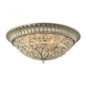 ELK Lighting - Andalusia 8 Light Flush Mount In Aged Silver - 11695/8
