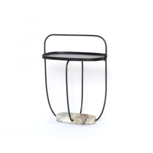Four Hands - Anika End Table - Hammered Grey - 109063-001