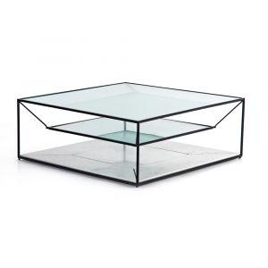 Four Hands - Basilio Coffee Table - Matte Black - 224816-001