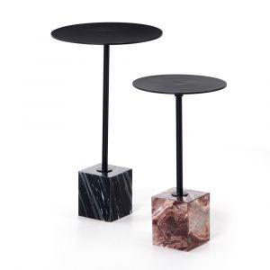 Four Hands - Delia End Table - Matte Black (Set of 2) - 224854-001