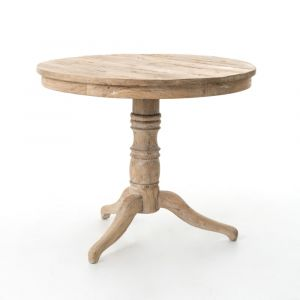 Four Hands - Round Occasional Table - Whitewash - CIMP-42-WW