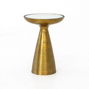 Four Hands - Marlow Mod Pedestal Table - Brushed Bras - IMAR-48-BBS