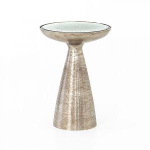 Four Hands - Marlow Mod Pedestal Table - Brushed Nickel - IMAR-48