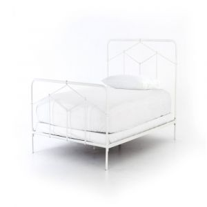 Four Hands - Casey Iron Twin Bed - White - ICAP-T7A