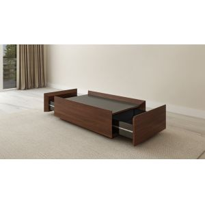 Furnitech - 2 Drawer Contemporary Walnut Coffee Table - FT48CTCF