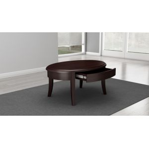 Furnitech - Classic Modern Coffee Table In Brazilian Cherry Veneers And Solids With A Wenge Finish - FT40CK