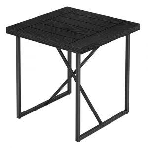 Furnitech - Signature Home - X End Table in Ebony Oak with Graphite Tubular Steel Base - FT24IETEB
