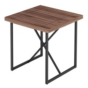 Furnitech - Signature Home - X End Table in Walnut with Graphite Tubular Steel Base - FT24IETW