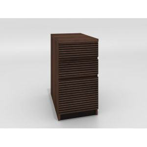 Furnitech - Tango Office - 3 Drawer File Cabinet in Brazilian Cherry with a Cognac Finish - TANGO-16OFP